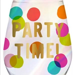 Other - Party Time Jumbo Polka Dot Wine Glass 30 oz